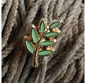 Pin ramo di Acacia Oro e Smalto