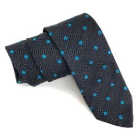 Forget-me-not masonic tie